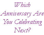 Which anniversary are you celebrating next?