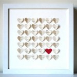 Paper hearts in frame