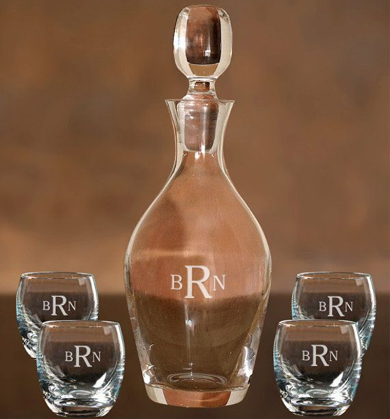 Anniversary Glass Decanter