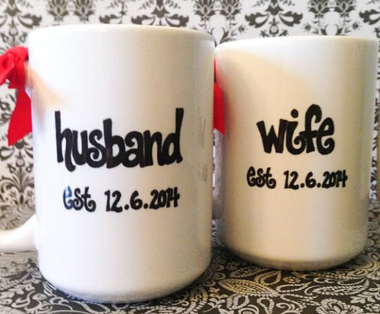 Husband and wife mugs & Creative Ideas for Wedding Anniversary Gifts | My Wedding Anniversary