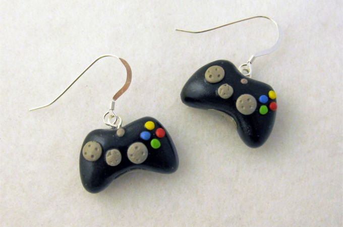 Gamepad earrings