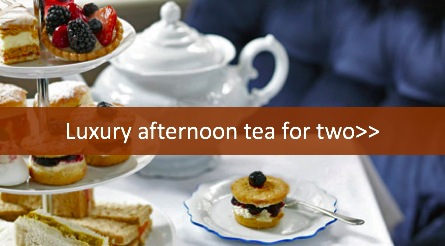 Luxury afternoon tea for 2 gift