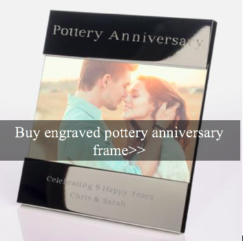 9th Year Wedding Anniversary Gifts And Ideas Pottery Wedding