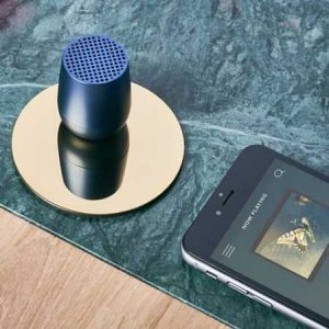 Buy a lexon bluetooth speaker for him on your 21st anniversary.