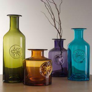 Bottle vases make a great anniversary gift.