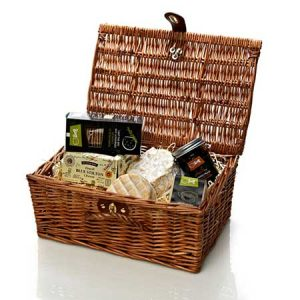 The classic cheese hamper will make a perfect gift for this anniversary