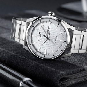 Citizen silver strap watch for his 23rd wedding anniversary