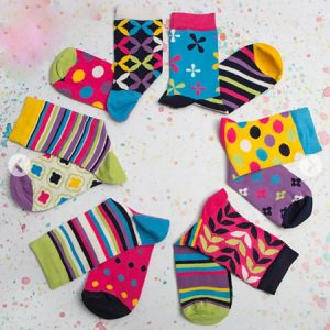 Buy her some candy patterned socks for the 23rd wedding anniversary