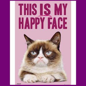 Buy Mum & Dad a grumpy cat poster for their wedding anniversary.