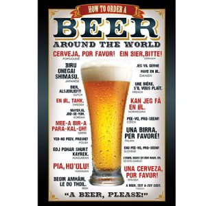 Buy him a how to order beer in different languages poster.