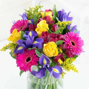 Buy her some vibrant iris flowers for your 21st wedding anniversary.
