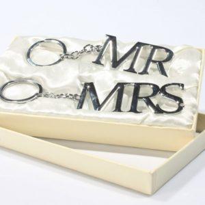 Buy them Mr & Mrs keyrings anniversary gift.
