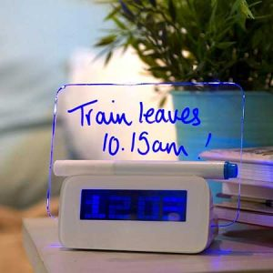 Buy him a scribble alarm clock for your 21st anniversary.