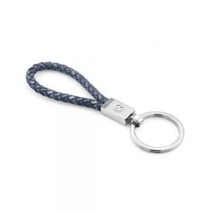 Buy him a silver and blue cord keyring for the 23rd wedding anniversary