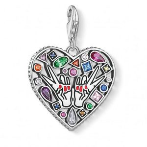 Buy her a silver love & peace charm for this anniversary gift