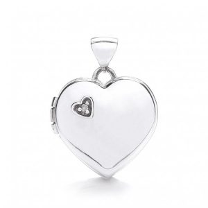 Buy her a white gold heart and diamond pendant for your anniversary