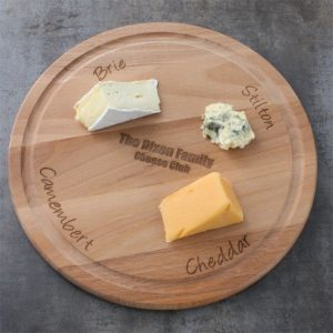 Personalised cheese board gift for Mum and Dad on their wedding anniversary.