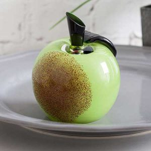 Buy her Temptation Green Apple Paperweight By Caithness Glass