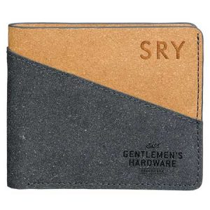 Buy him a personalised recycled black and tan wallet.