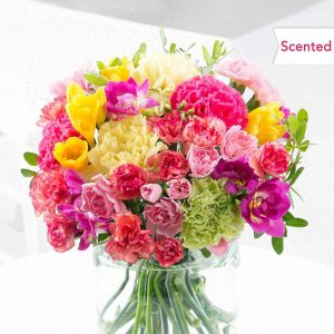 Buy her a bouquet of mixed flowers for this anniversary gift