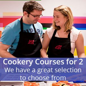 Buy them a cookery course for 2 we have a great selection for this anniversary gift.