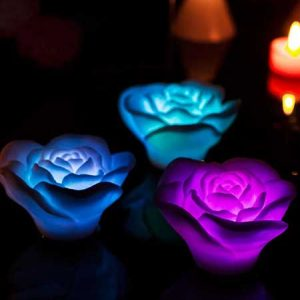 Buy her some floating rose bath lights for this anniversary gift from prezzybox