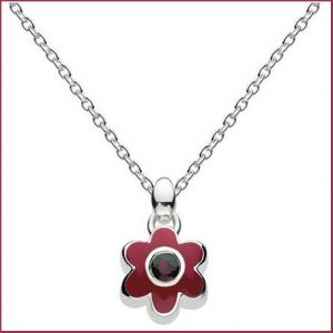 Buy her a garnet flower necklace for this anniversary gift.