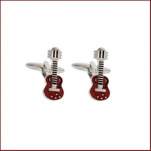 Keeping the music theme going for this anniversary, buy him some guitar cufflinks.