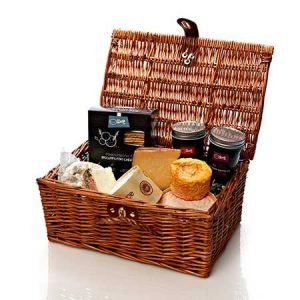 Continental cheese hamper makes a perfect gift for a couple.