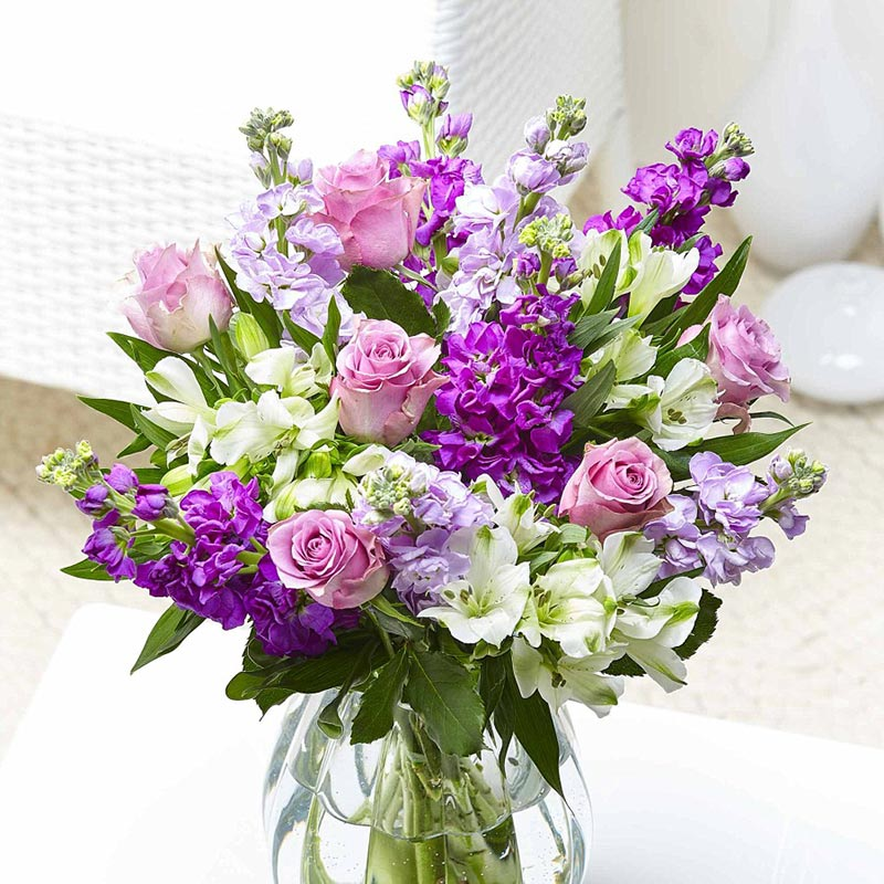 Buy her some Lilac flush flowers for this anniversary gift.