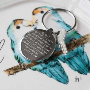 Buy him a personalised Moment I Met You keyring on this anniversary.