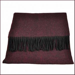 Buy him a Tresanti Celeste 100% Finest Mongolian Virgin Wool Burgundy & Black Scarf.
