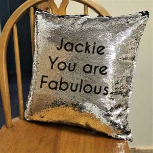 Buy her a personalised sequin cushion cover.