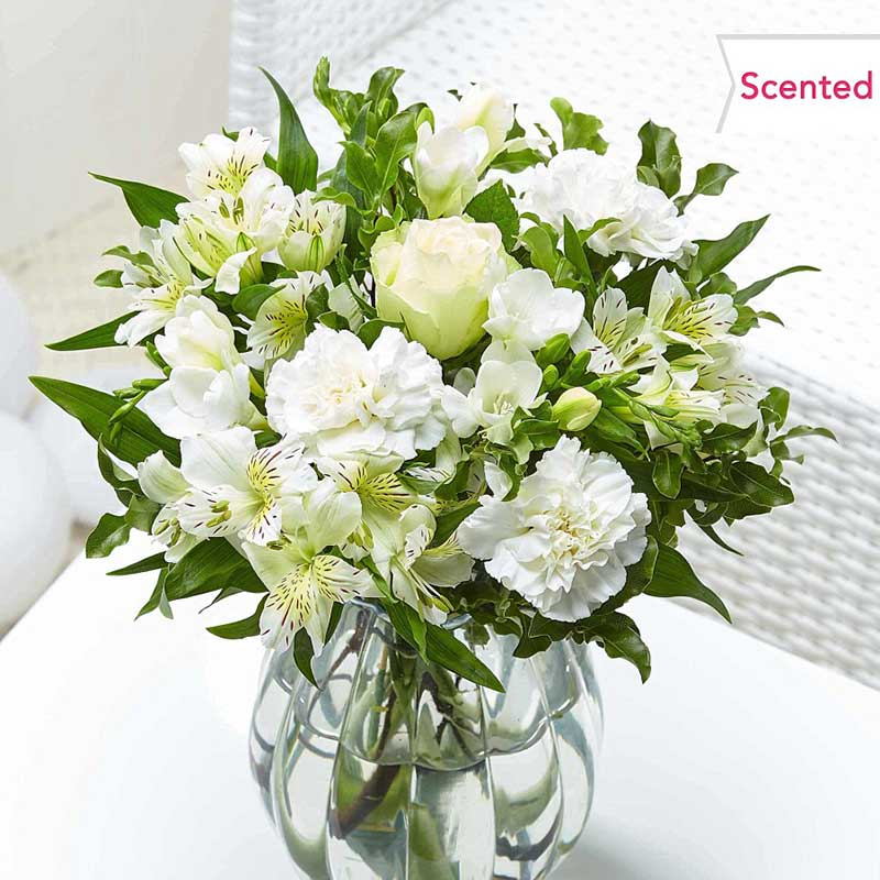 Buy the one you love some white scented flowers for this anniversary