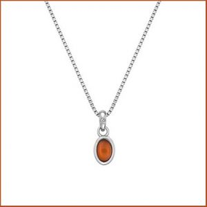 Buy her a silver mounted red carnelian pendant for 17th anniversary gift.