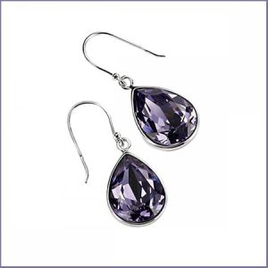 Buy her some Tazanite silver crystal drop earrings.