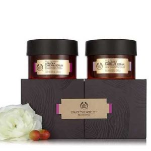 Buy her the spa of the world body collection from The Body Shop.