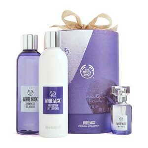 Buy her white musk premium collection from the body shop.