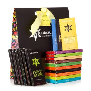 This is for the chocolate lover, buy him a selection of chocolate bars from montezumas