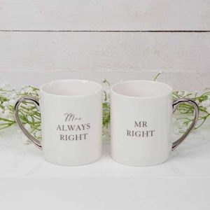 Buy them a fun gift mr right & mrs always right set of mugs.