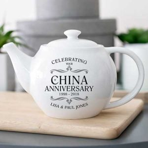 Buy them an anniversary china teapot.