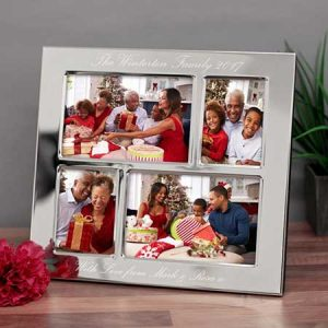 Buy them an engraved collage photo frame of the family.