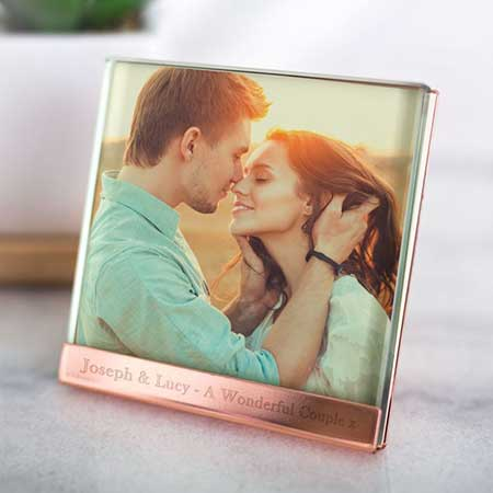 Buy her this Personalised Copper Plated & Glass Photo Frame