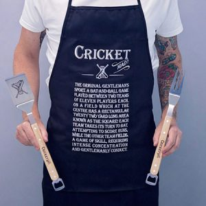 Buy him Cricket Mad Apron And BBQ Gift Set