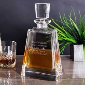 Buy him an Engraved Boston Wide Decanter for this anniversary gift