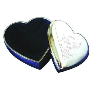 Buy her I love you to the moon and back engraved trinket box.