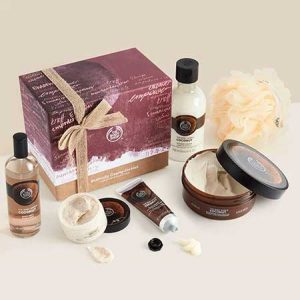 Buy her Exotically Creamy Coconut Premium Collection from the body shop