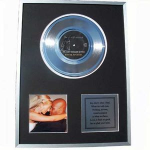 Buy her the first dance framed record for this anniversary gift.