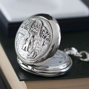 Buy him a personalised fishing pocket watch for this anniversary gift