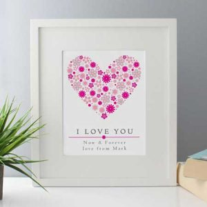 Buy her a I Love You Personalised Framed Print